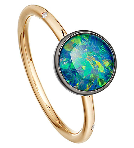 ASTLEY CLARKE Opal uranus 14ct gold ring