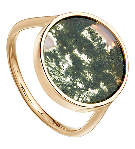 ASTLEY CLARKE Moss agate venus 14ct gold ring