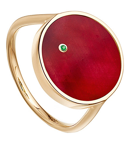 ASTLEY CLARKE Ruby mars 14ct gold ring