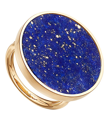 ASTLEY CLARKE Neptune 14ct yelow gold and lapis lazuli ring