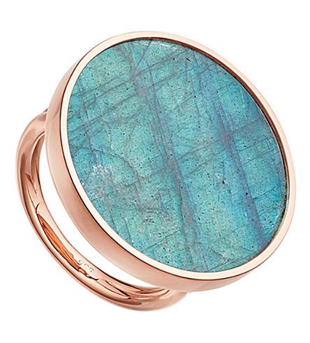 ASTLEY CLARKE Jupiter 14ct rose gold and labradorite ring