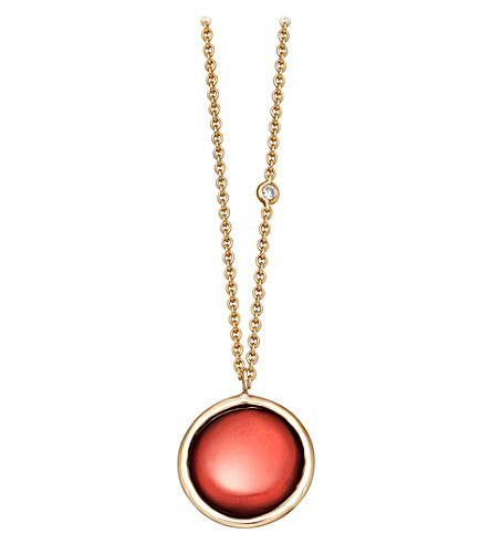 ASTLEY CLARKE Mercury 14ct yellow gold and garnet necklace