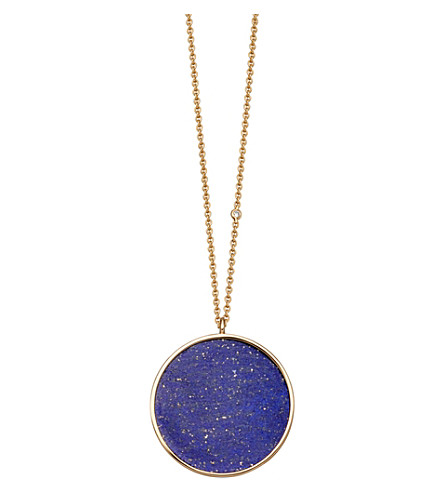 ASTLEY CLARKE Neptune 14ct yellow gold, diamond and lazuli necklace