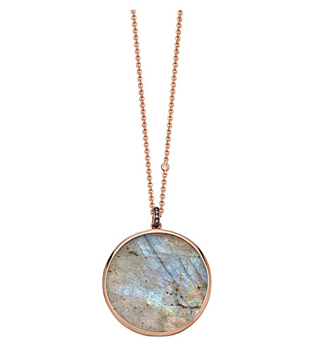 ASTLEY CLARKE Jupiter 14ct rose gold, diamond and labradorite necklace