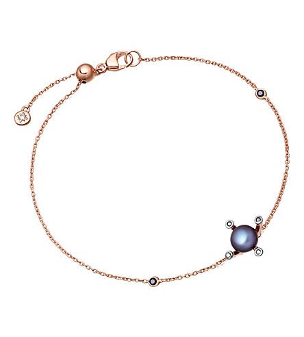 ASTLEY CLARKE Pluto 14ct rose gold, diamond and pearl bracelet