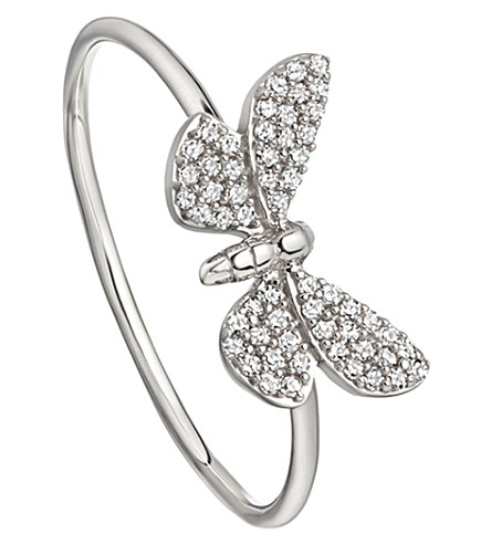 ASTLEY CLARKE Cinnabar Papillon 14ct white-gold and diamond ring