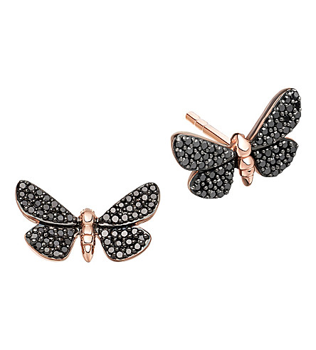ASTLEY CLARKE Photoaxis Cinnabar Papillon 14ct rose-gold diamond stud earrings