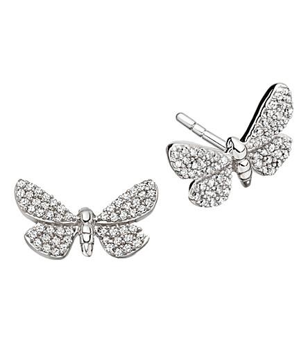 ASTLEY CLARKE Photoaxis Cinnabar Papillon 14ct white gold diamond stud earrings