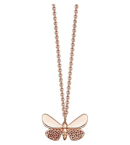ASTLEY CLARKE Medie Cinnabar Papillon 14ct rose-gold and red diamond necklace
