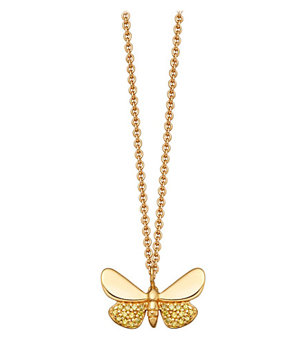 ASTLEY CLARKE Medie Cinnabar Papillon 14ct gold and yellow diamond necklace
