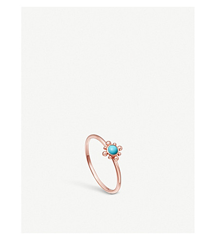 ASTLEY CLARKE 18-carat rose gold vermeil mini Floris ring