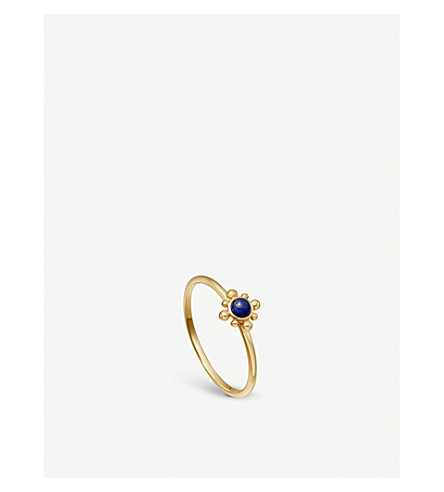 ASTLEY CLARKE 18-carat yellow gold vermeil mini Floris ring