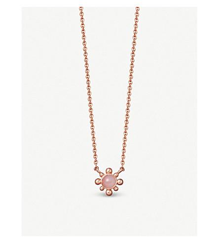 ASTLEY CLARKE Floris mini 18ct gold-plated pink opal pendant necklace