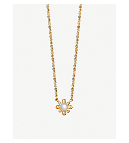 ASTLEY CLARKE Mini Floris 18ct yellow gold vermeil necklace