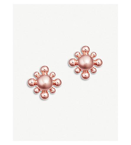 ASTLEY CLARKE Floris mini 18k rose-gold vermeil sterling silver stud earrings