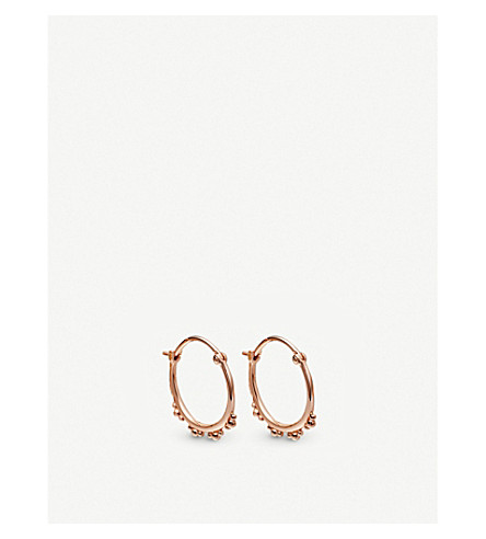 ASTLEY CLARKE Floris 18ct rose-gold vermeil hoop earrings