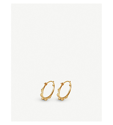 ASTLEY CLARKE Floris 18ct yellow-gold vermeil hoop earrings
