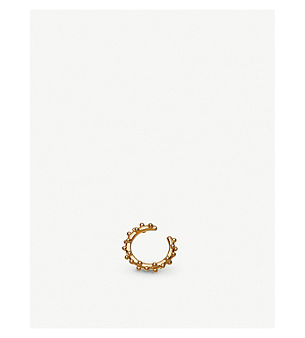ASTLEY CLARKE Floris 18ct yellow-gold vermeil ear cuff