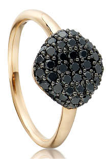 ASTLEY CLARKE Pillow 18ct gold pave diamond ring