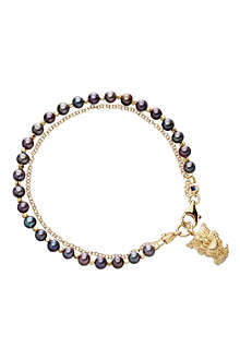 ASTLEY CLARKE Pearls of Wisdom peacock-seed friendship bracelet
