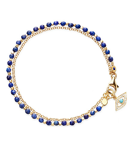 ASTLEY CLARKE Evil Eye lapis friendship bracelet (Gold+with+blue
