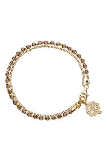 ASTLEY CLARKE Four leaf clover smoky-quartz friendship bracelet