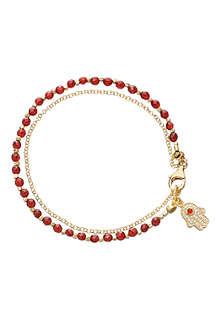 ASTLEY CLARKE Hamsa red agate friendship bracelet