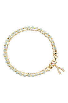 ASTLEY CLARKE Wishbone amazonite friendship bracelet