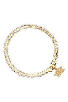 ASTLEY CLARKE Lotus white agate friendship bracelet