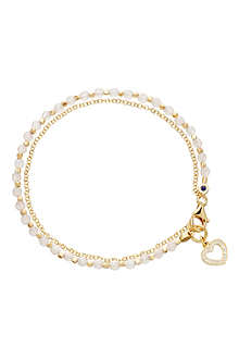 ASTLEY CLARKE Heart rose quartz friendship bracelet