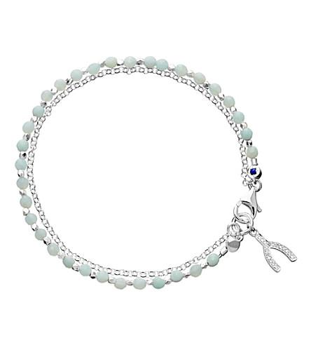 ASTLEY CLARKE WISHBONE 纯银 amazonite Friendship 手链 (淡 + 蓝