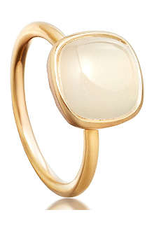 ASTLEY CLARKE Timbrel moonstone 18ct gold vermeil ring