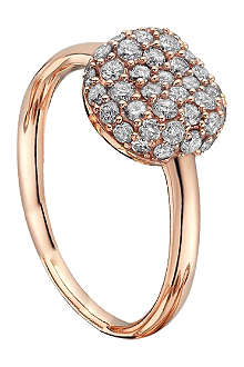 ASTLEY CLARKE 18ct rold gold diamond pillow ring