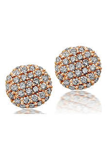 ASTLEY CLARKE Pillow rose gold and diamond stud earrings