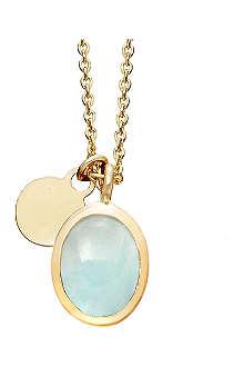 ASTLEY CLARKE Milky Aquamarine cadenza pendant necklace