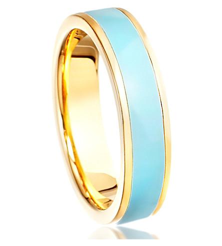 ASTLEY CLARKE Enamel ring (Gold+with+blue