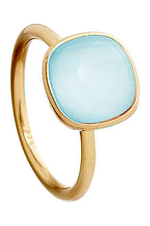 ASTLEY CLARKE Timbrel gold-plated silver and aqua quartz ring