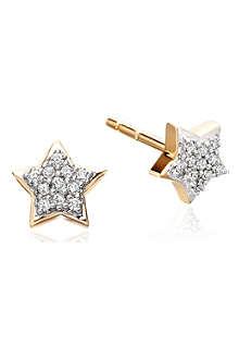 ASTLEY CLARKE Diamond Star 14ct gold stud earrings