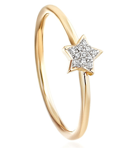 ASTLEY CLARKE Super Stars yellow-gold and diamond star ring (Gold with diamond