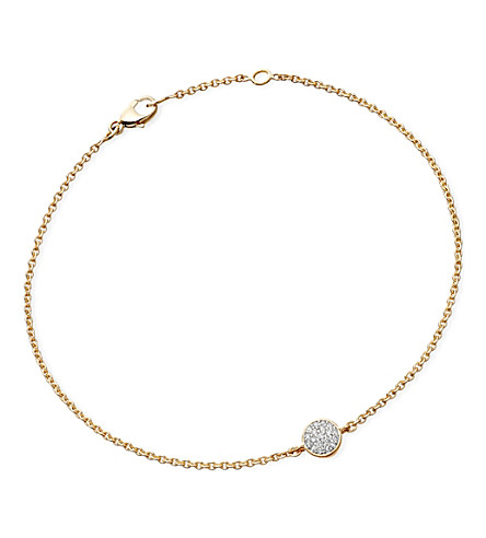 ASTLEY CLARKE A Little Muse 14ct gold diamond bracelet (Gold with diamond