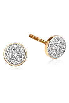 ASTLEY CLARKE A Little Muse 14ct gold diamond stud earrings