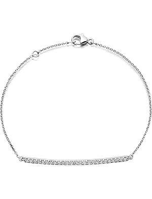 ASTLEY CLARKE 14 carat white gold and diamond bar bracelet