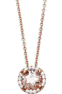 ASTLEY CLARKE 14ct rose gold morganite pendant necklace
