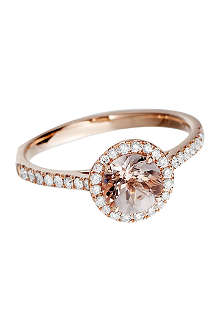 ASTLEY CLARKE 14ct rose gold morganite ring