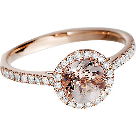 ASTLEY CLARKE 14ct rose gold morganite ring (Rose+gold,+pink