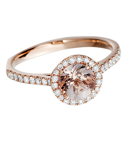ASTLEY CLARKE 14ct rose gold morganite ring (Rose gold, pink