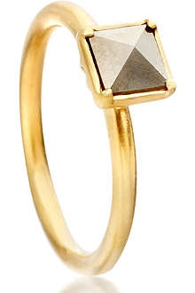 ASTLEY CLARKE Square Sonatina 18ct gold vermeil pyrite ring