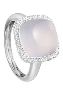ASTLEY CLARKE White gold blue chalcedony ring