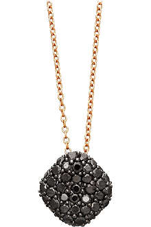 ASTLEY CLARKE Black diamond pillow pendant necklace