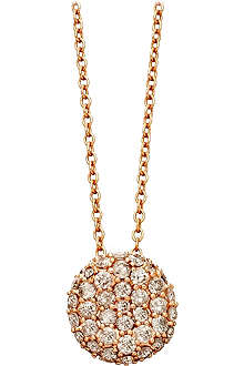 ASTLEY CLARKE Rose gold grey diamond pillow pendant necklace